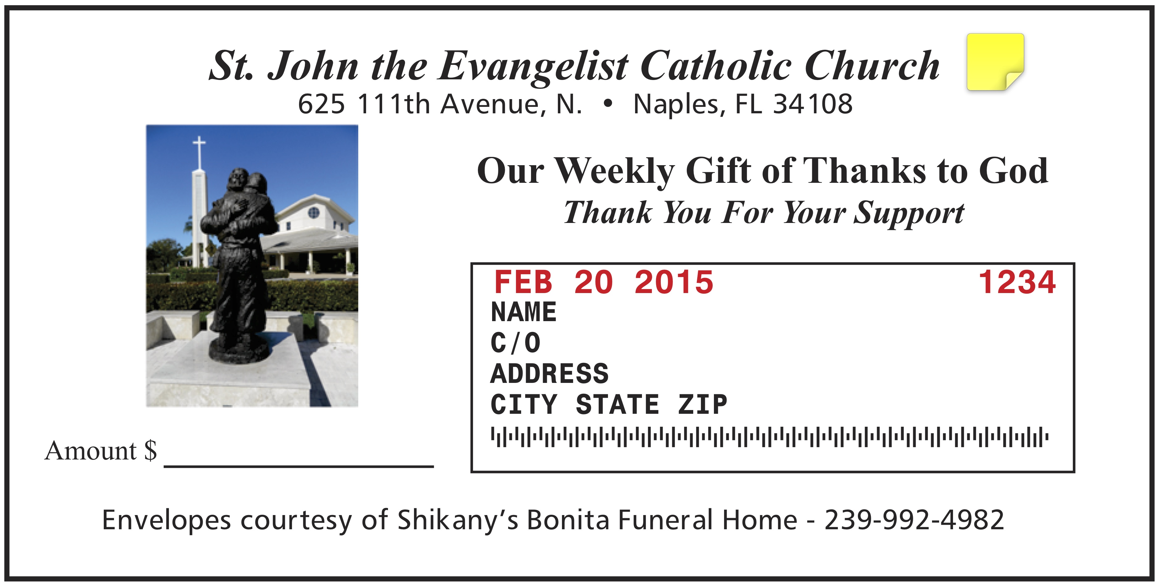 Parish Giving Envelopes: Essential Tool for the Church