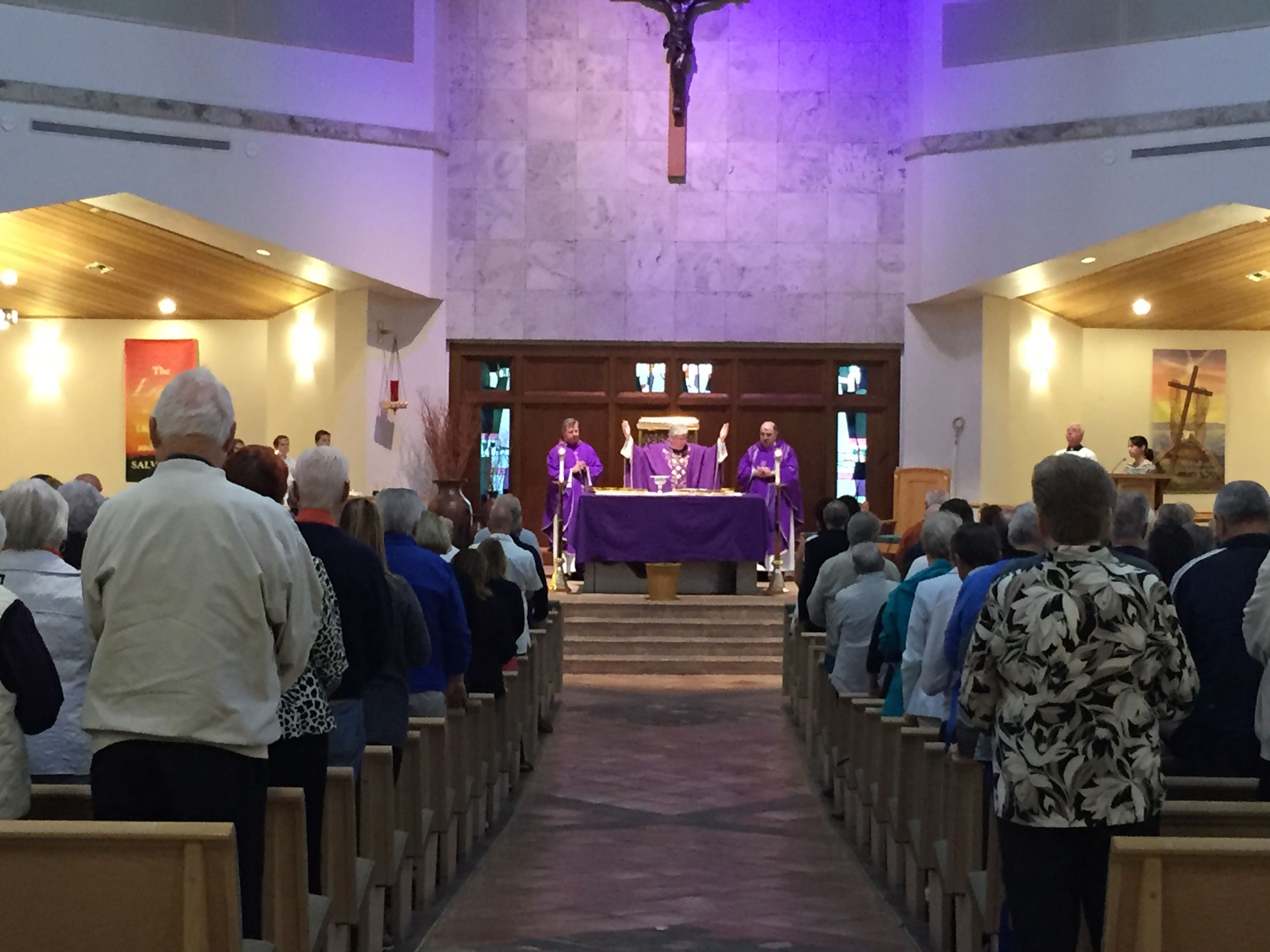 Saint John Hosts the Bishop for Ash Wednesday and Naples