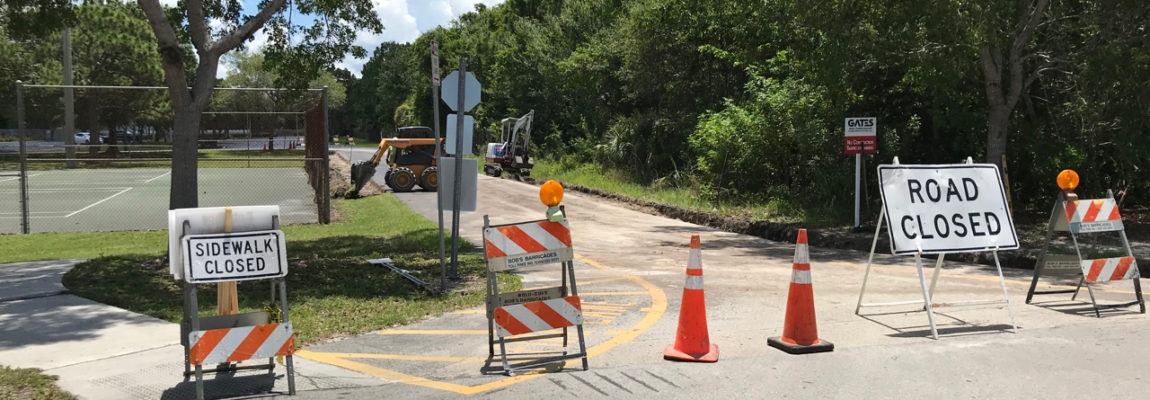 Access Road, Sidewalk, and New Parking Lot Construction Begins