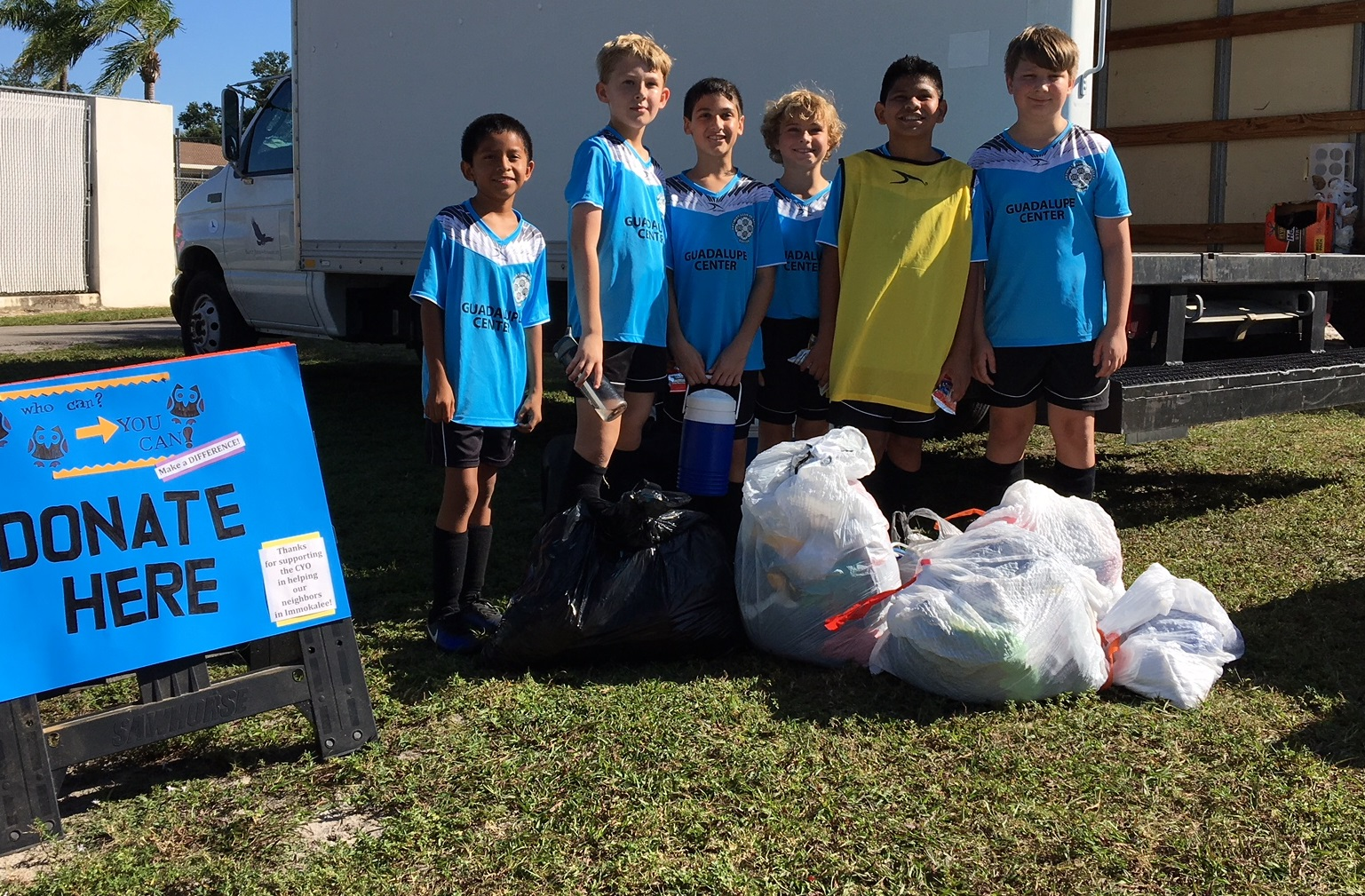 CYO Soccer Families Donate Clothing for Immokalee – Saint ...