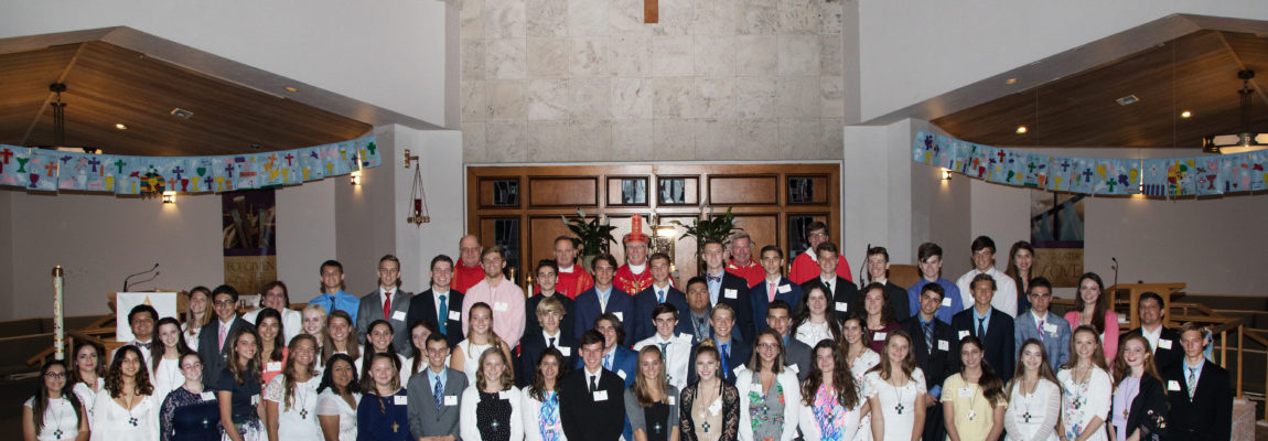 Over 60 Members of Our Parish Family Receive the Holy Spirit in Confirmation